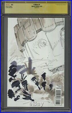 CGC SS Wolverine Original Art by Meghan Hetrick X-men sketch cover
