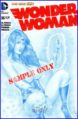 COMIC BABES 1-SIDED Pencil Original Art Sketch Cover by Artist Lance HaunRogue