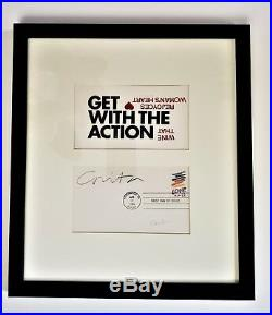 CORITA KENT Print HAND-SIGNED in PENCIL 1st Day Cover US Stamp & Banner FRAMED