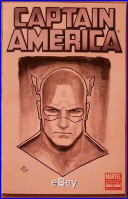 Captain America #1 Adi Granov Original Art Blank Sketch Cover Variant Signed