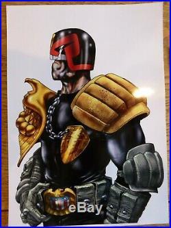 Carlos Ezquerra 2000AD Judge Dredd Cover original Art