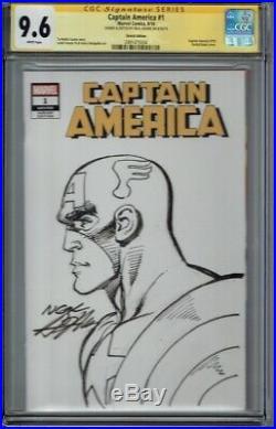 Cgc Ss 9.6 Captain America #1 Neal Adams Original Art Sketch Cover Sgn Sketched