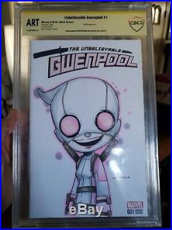 Chris Uminga Gwenpool Original Art Sketch cover blank Marvel Deadpool CBCS Comic