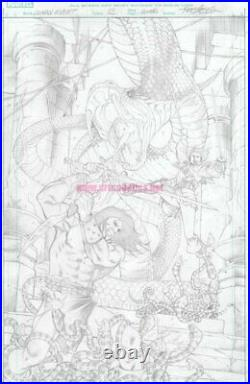 Conan Serpent War 2 original Marvel Comics COVER ART by CARLOS PACHECO