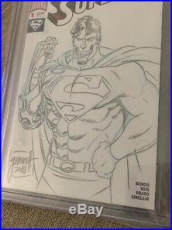 Cyborg Superman Sketch Cover Original Art By Tom Grummett Hank Henshaw Cgc 9.8