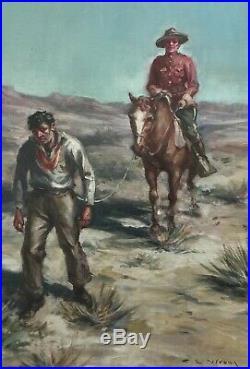 DANGER TRAIL MAGAZINE 1920's ORIGINAL COVER ART by CHARLES LEWIS WRENN