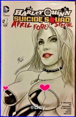 DC Comics HARLEY QUINN #1 Original Art Sketch Cover JOKER BATMAN GOTHAM CATWOMAN