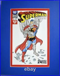 DC Sketch Cover SUPERMAN BLANK #1 Original Art by artist Anthony Castillo CYBORG