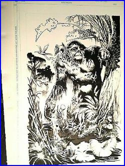 DC Tryout page original art Rags Morales Swamp Thing Bernie Wrightson Creation