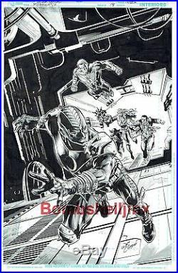DC/VERTIGO STORM WATCH #15 COVER Original Art by WILL CONRAD