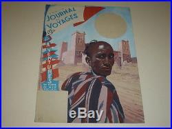 DESSIN PRESSE BD MARCEL THIERRY Jdes Voyages Cover GOUACHE ORIGINAL Maroc 1947