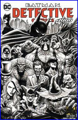 DETECTIVE COMICS #1000 Sketch Cover Original Comic Art Batman & Rogues
