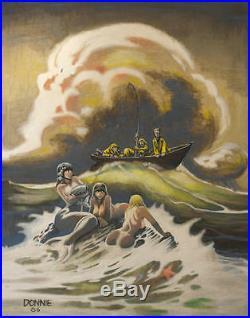 DON MARQUEZ original art, Mermaid, Cover'CARTUNE LAND', 24x30 canvas, 1986