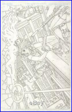 Danger Girl Body Shots #2 Cover Original Art Nick Bradshaw 11 X 17