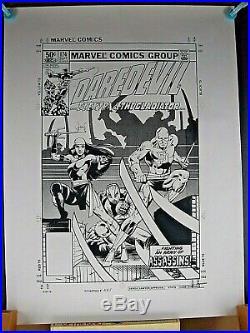Daredevil #174 Cover Original Marvel Production Art Stat Frank Miller Huge
