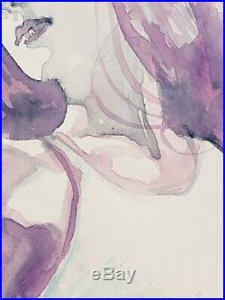 David Mack original art cover painting study Jessica Jones watercolor