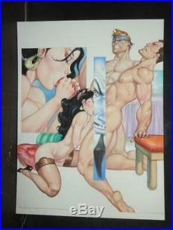 Delmonico's Erotika # 275 Sexy Pin Up Girl Original Mexican Cover Art