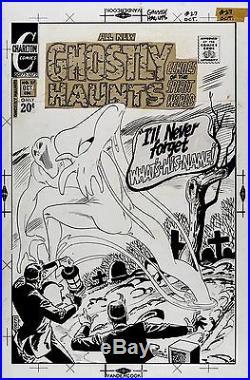 Ditko, Steve GHOSTLY HAUNTS 27 COVER Large Original Art (1972) CLASSIC HORROR