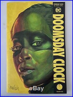 Doomsday Clock 12 Sister Night Watchmen Original Art Blank Cover By Corey Ross