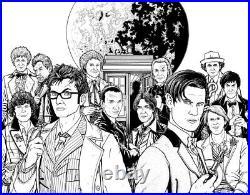 Dr Who Original Artwork Wraparound Cover Paul Hanley Multi Doctors Titan Comics