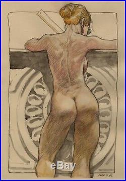 Drawing Erotic Bondie Architect By Tanino Liberatore Original Art