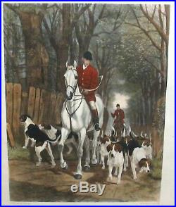 E. A. S. Douglas Morning Going To Cover. Original Hand Colored Large Engraving