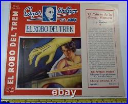 Edgar Wallace King Kong Author Bocquet Book Cover Original Art Signed Spain 1930