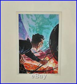 Edward (emsh) Emshwiller Framed Stunning Prelim Cover Art, Rendered In Gouache