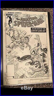 Erik Larsen Spider-man Vs Green Goblin Cover Commission Original Art