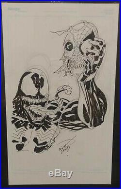 Erik Larsen Venom Commission Amazing Spiderman 347 Cover Sketch Original Art