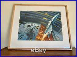 Exquisitely detailed CHRIS MOORE ORIGINAL Scifi Book cover art 1980