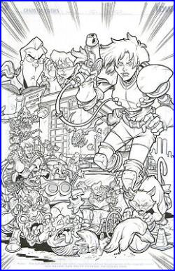 Extreme Ghostbusters #1 Original Art IDW Publishing 1st XGB issue ever! Egon