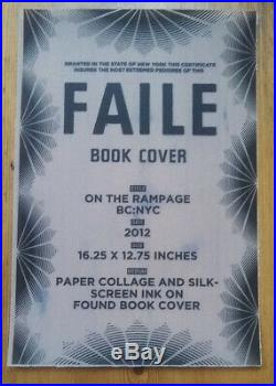 FAILE Rampage NYC OG Original on Book Cover Signed Artwork not print HPM Boxing