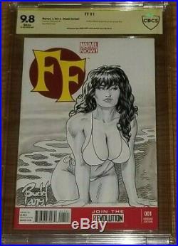 FF #1 CBCS 9.8 VARIANT SEXY SHE-HULK Sketch Cover by BUDD ROOT ORIGINAL ART CGC