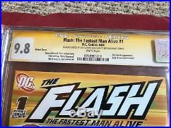 FLASH 1 Variant Cover Ken Lashley Original Art SUPERMAN Sketch Signed CGC SS 9.8