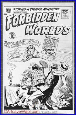 FORBIDDEN WORLDS #139 Original Art 1966 Schaffenberger (Lois Lane) ACG HALLOWEEN