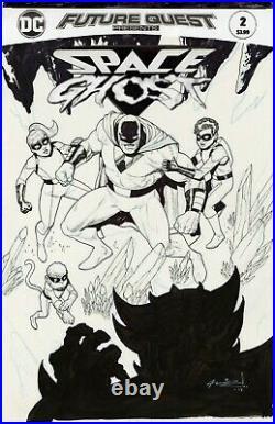 FUTURE QUEST PRESENTS #2 SPACE GHOST Cover Original Art ARIEL OLIVETTI 2017 DC