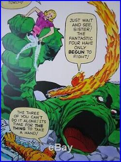 Fantastic Four #1 Cover Marvel Milestone Edition Original Art Jack Kirby