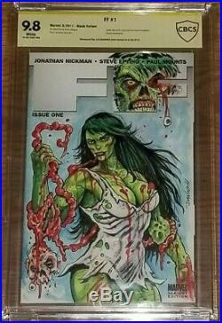 Ff #1 Cbcs 9.8 Variant Zombie Sexy She-hulk Sketch Original Art Cgc Immortal