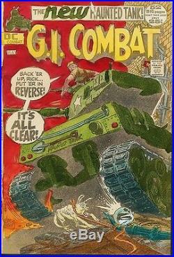 G. I. Combat #153 COVER ART HAND PAINTED Haunted Tank JOE KUBERT 1972 Color Guide