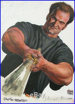 GLENN FABRY Original Cover Art, QUENTIN TARANTINO, Kill Bill, 12x17, signed