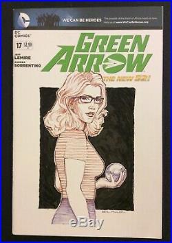 GREEN ARROW #17 Comic ORIGINAL ART COVER Eric Muller COA FELICITY SMOAK Rickards