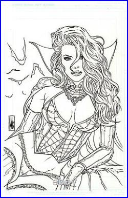 GRIMM FAIRY TALES HORROR PINUP SPECIAL #1D Cover Original Art MICHAEL DIPASCALE
