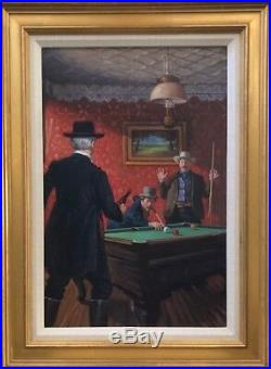 Garin Baker Western Book Cover Art Original Oil On Canvas