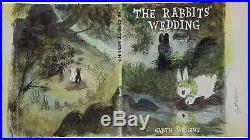 Garth Williamsenormous Original Cover Art Watercolor Paintingrabbits' Wedding