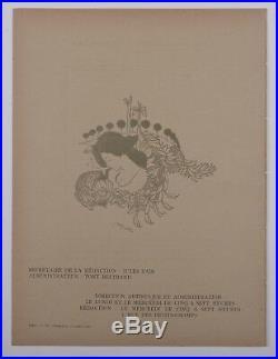 Georges De Feure Original woodcut cover 1897 L'image Art Nouveau Symbolism