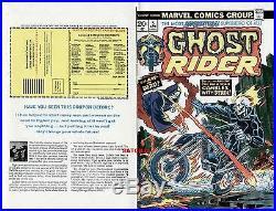 Ghost Rider #5 Gil Kane & John Romita 1974 Original Cover Proof Production Art