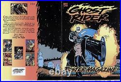 Ghost Rider Mark Texeira Poster Magazine Original Cover Proof Production Art Tex