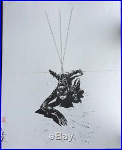 Gotcha! Paul Pope 2002 DC Catwoman #5 Cover Original Art