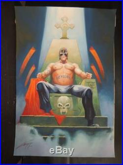 Guerreros Del Ring # 3 Rey Misterio Wrestling Mex Cover Art Signed By Gallur